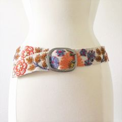 Jenny Krauss Orange Flower Belt - product images 1 of 11