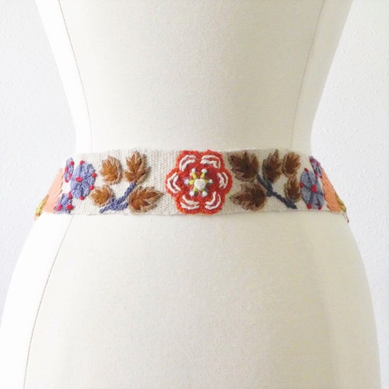 Jenny Krauss Orange Flower Belt - product image