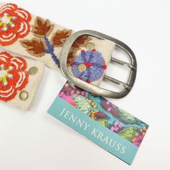 Jenny Krauss Orange Flower Belt - product images  of