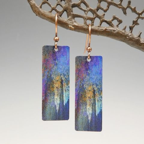 DC,Designs,-,Dark,Blue,Purple,Abstract,Art,Long,Rectangle,Earrings,ME17CE,DC Designs Jewelry, Art Print Earrings, DC Designs Earrings, Handmade Colorado