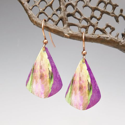 DC,Designs,-,Purple,Abstract,Art,Teardrop,Earrings,4NJE,DC Designs Jewelry, Art Print Earrings, DC Designs Earrings, Handmade Colorado