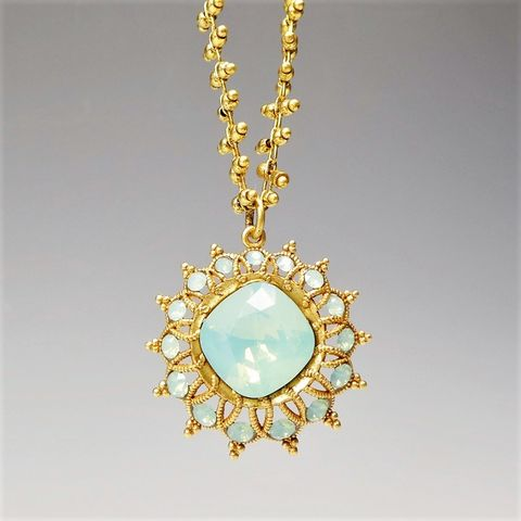 Catherine,Popesco,Crystals,Starburst,Necklace,in,Pacific,Opal,Catherine Popesco Necklace, La Vie Parisienne Necklace, Catherine Popesco Jewelry, Catherine Popesco Paris