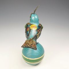 Mullanium Bird - Blue Bird on Vintage Croquet Ball - product images 4 of 11