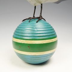 Mullanium Bird - Blue Bird on Vintage Croquet Ball - product images 10 of 11