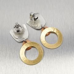 Marjorie Baer Tapered Square with Medium Ring and Small Dished Disc Earrings - product images 5 of 7
