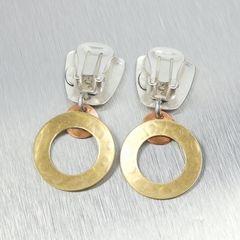 Marjorie Baer Tapered Square with Medium Ring and Small Dished Disc Earrings - product images 6 of 7