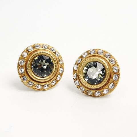 Catherine,Popesco,Halo,Crystals,Stud,Earrings,in,Black,Diamond,Catherine Popesco Earrings, La Vie Parisienne Earrings, Catherine Popesco Jewelry, Catherine Popesco Paris