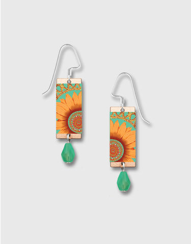 Lemon,Tree,-,Orange,Sunflower,Long,Rectangle,Earrings,Lemon Tree Earrings Colorado, Lemon Tree Earrings Sunflower