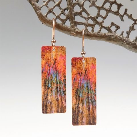 DC,Designs,-,Autumn,Red,Trees,Nature,Print,Long,Rectangle,Earrings,ME1CE,DC Designs Jewelry, Art Print Earrings, DC Designs Earrings, Handmade Colorado