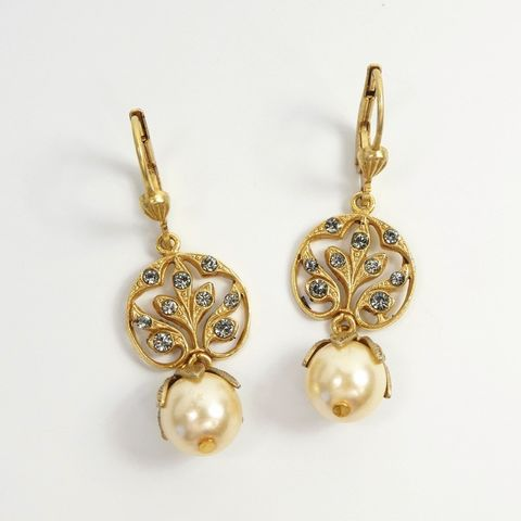 Catherine,Popesco,Vintage,Vine,Top,Pearl,Dangle,Earrings,Catherine Popesco earrings, La Vie Parisienne earrings, Catherine Popesco Jewelry, Catherine Popesco Paris