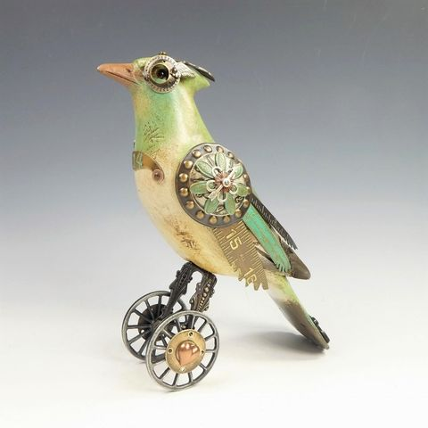 Mullanium,Bird,-,Green,Jay,on,Wheels,Mullanium Bird, Mullanium Green Jay on Wheels