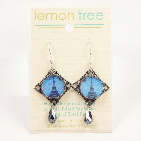 Lemon,Tree,-,Blue,Eiffel,Tower,Earrings,Lemon Tree Earrings Colorado, Blue Eiffel Tower Earrings