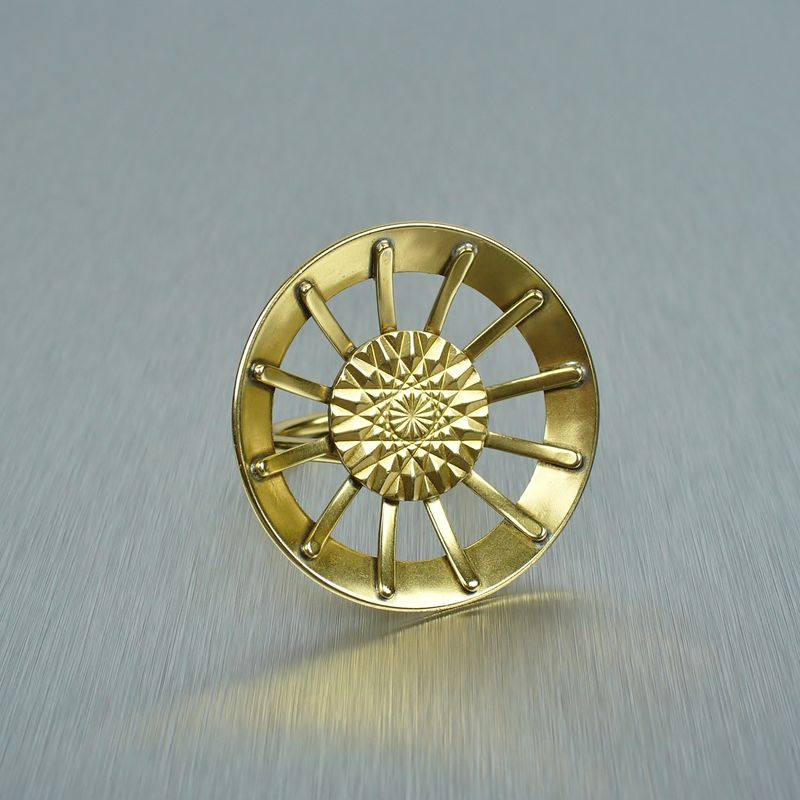 Marjorie Baer Geometric Sunburst Ring - product image