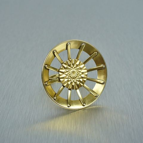 Marjorie,Baer,Geometric,Sunburst,Ring,Marjorie Baer Geometric Circle Ring, Sunburst ring
