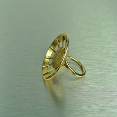 Marjorie Baer Geometric Sunburst Ring - product images 2 of 3