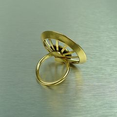 Marjorie Baer Geometric Sunburst Ring - product images  of