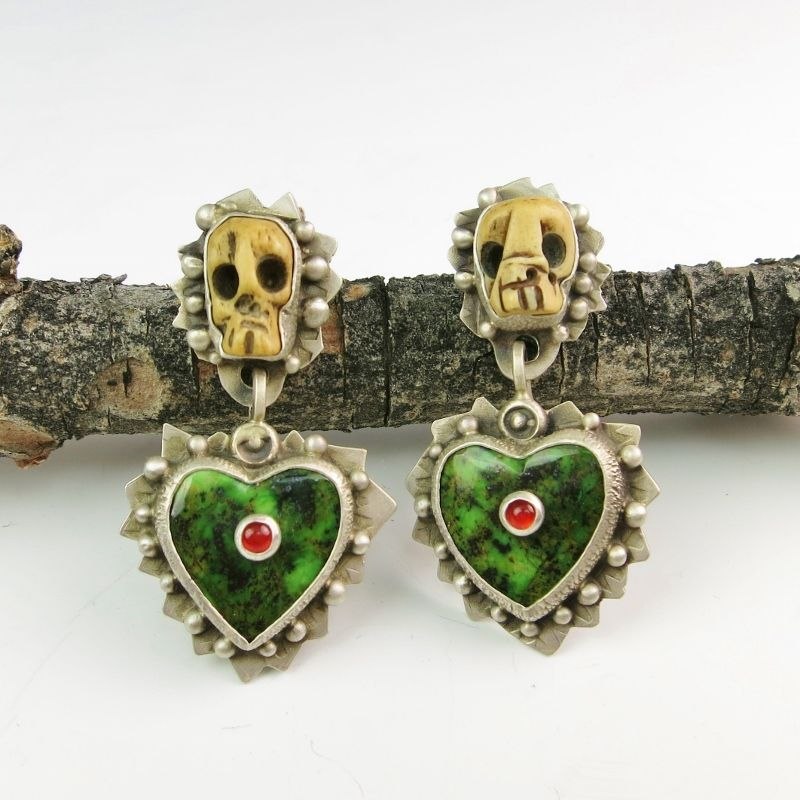 Serpentine Hearts Earrings - product image