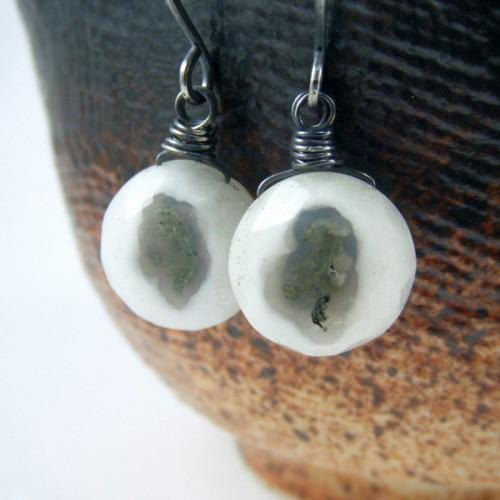 Handcrafted Solar Quartz and Sterling Silver Earrings from Night Sky Jewelry - product images  of