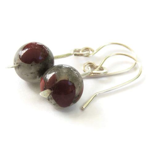 African,Bloodstone,and,Hammered,Sterling,Silver,Earrings,jewelry, earrings, handmade, sterling silver, bloodstone, hammered, handcrafted, nightskyjewelry, night sky jewelry, sharon burgess