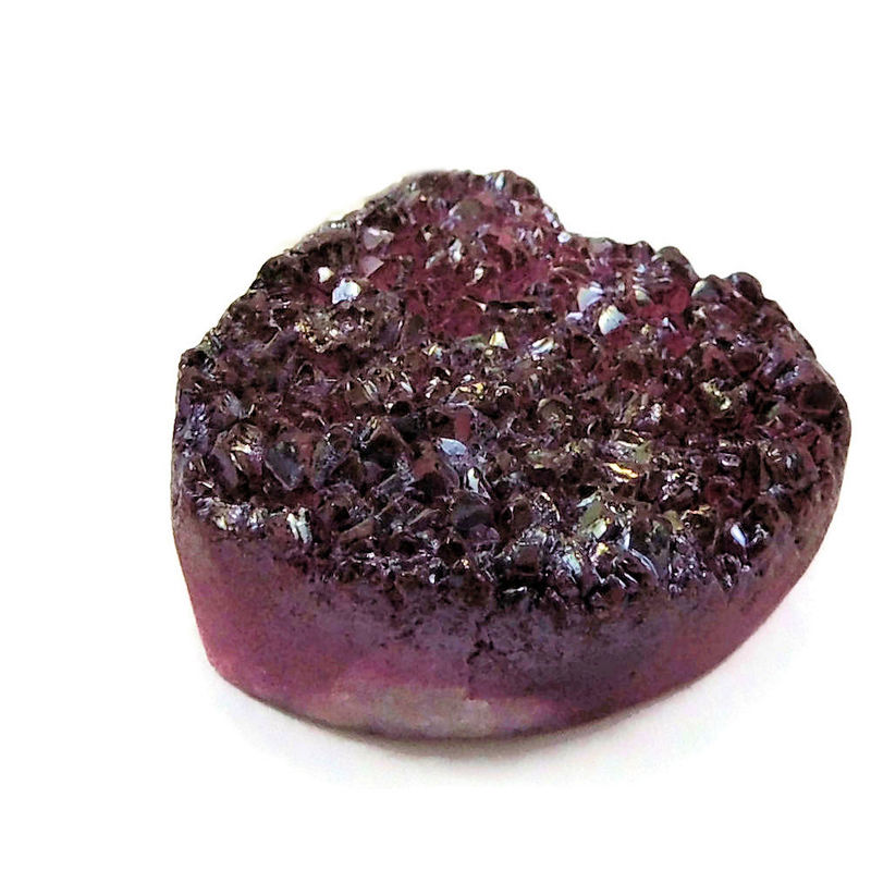 Merlot Red Druzy Drusy Sterling Silver Pendant Necklace - product images  of